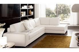 canape qualite canapé d angle divano en cuir italien vachette de qualité blanc