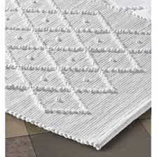 badteppich rautenmuster 50 100 cm reinweiß manufactum