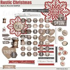 Rustic Christmas Alpha Word Art