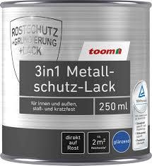 6 49 toom 3in1 metallschutzlack weiß glänzend 250 ml
