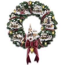 Thomas Kinkade Christmas Tree Cottage by Amazon Com Thomas Kinkade Victorian Christmas Village Wreath By