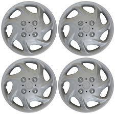 4pc Hub Cap ABS Silver 15