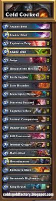 my top 3 hearthstone decks hunter shaman paladin cold s
