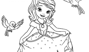 Sofia The First Robin And Mia Coloring Pages