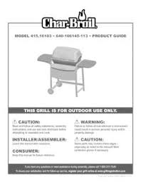 Char Broil Patio Bistro Electric Grill Instructions by 415 16103 Char Broil Gas Grill Manual