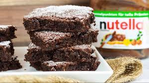 saftige nutella brownies mit nur 3 zutaten 3 zutaten challenge