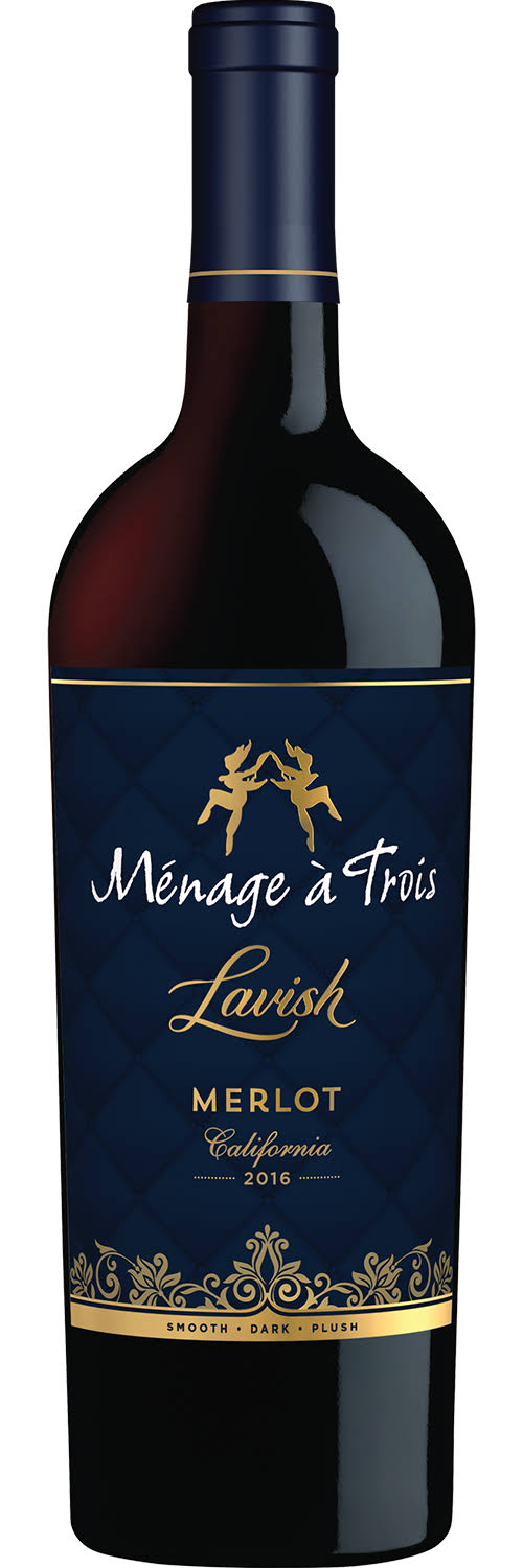 Menage a Trois Merlot, Lavish, California, 2016 - 750 ml