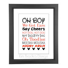 Mickey Mouse Bedroom Ideas by Mickey Mouse Clubhouse Mickey Quotes 8x10 Digital Print 20 00