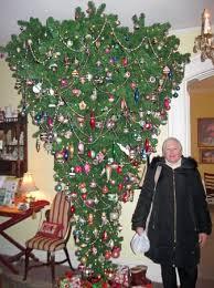 Teaberrys Tea Room Upside Down Christmas Tree