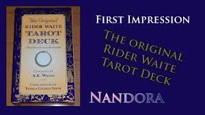 Universal Waite Tarot Deck Instructions by First Impression Original Rider Waite Tarot Deck Youtube