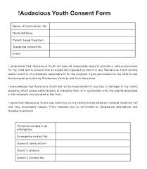 Parental Medical Consent Form Template Child Examples Images Of Information Download
