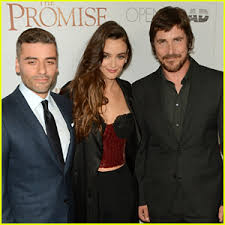 Oscar Isaac Charlotte Le Bon Christan Bale Bring The Promise To NYC