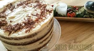 kürbis frischkäse torte mit ganache susis backstubb