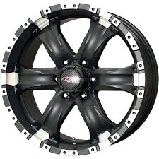 1) 18X9 +25 6X139.7 6X5.5 MB CHAOS 6 BLACK WHEELS/RIMS 18