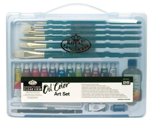 Royal Brush Essentials Clear View Case Oil Painting Art Set