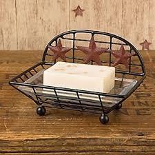 Burgundy Star Bathroom Accessories by Farm Primitives Collection On Ebay