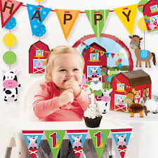 The Party Aisle Farm Fun First Birthday Party Decoration Kit   Wayfair Buy 1st Birthday Boy Decorations Kit Beautiful Colors For Girl First Gifts Baby Hallmark Watsons Party Holy City Chic Interior Landing Page Html Template Pirate Shark High Chair Decoration Amazoncom Glitter Photo Garland Pink Toys Games Mickey Mouse Decorating Turning One Flag Banner To And Gold