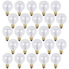 box of 25 g40 clear 1 6 inch 5 watt c7 base replacement bulbs