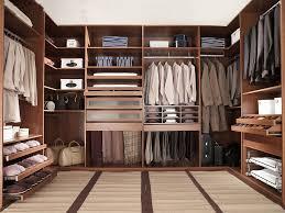 captivating walk in closet design in bedroom with custom veneer