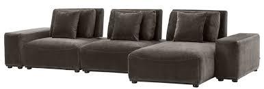casa padrino luxus wohnlandschaft grau schwarz 340 x 159 x h 83 cm wohnzimmer sofa mit 6 kissen luxus qualität