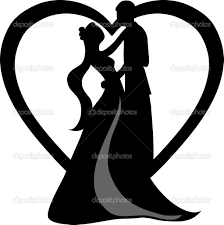 Back Images For Bride And Groom Silhouette Clipart Black White