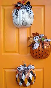 Kindergarten Halloween Door Decorations by Fall Décor Ideas Blissfully Colorful Dollar Tree Pumpkins