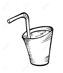 glass of water doodle Stock Vector