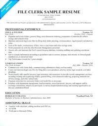 File Clerk Job Salary Medical Records Resume Mail Inventory