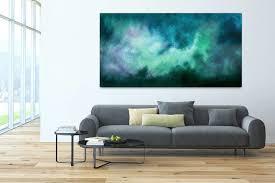 acryl gemälde tanz der galaxien 200x100cm für wohnzimmer