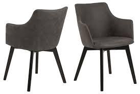 2x bea esszimmerstuhl armlehne grau stuhl set esszimmer stühle möbel küchenstuhl