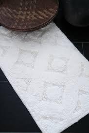 boho teppich badematte ivory 50x80 cm