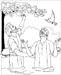 John Baptized With Impressive Design Ideas Jesus Baptism Coloring Page Pages Printables
