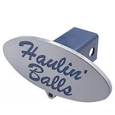 100 Blue Oval Truck Parts Haulin Balls Billet Aluminum Trailer Hitch Receiver