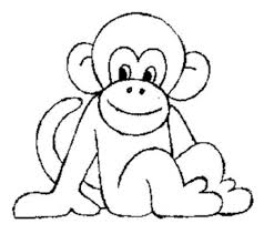 Cute Monkey Coloring Pages Throughout Baby