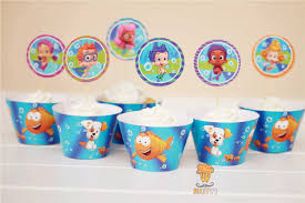 Bubble Guppies Cake Toppers by 60sets Monster High Bubble Guppies Dora Cupcake Wrappers