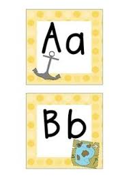 Cute Pirate Themed Word Wall Letters And Heading The Size Of