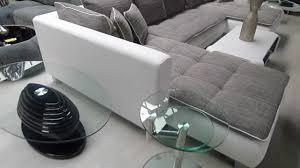 canapé simili cuir gris grand canapé d angle cado contemporain en simili cuir et tissu