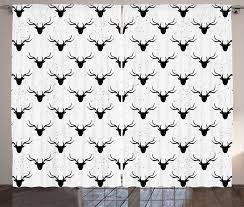 gardine schlafzimmer kräuselband vorhang mit schlaufen und haken abakuhaus hirsch tierkopf silhouetten kaufen otto