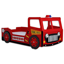 100 Fire Truck Loft Bed Engine Fun Novelty Engine Bunk Set