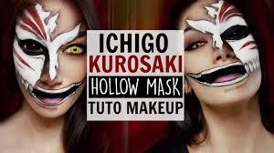 Halloween Half Mask Makeup by Ichigo Kurosaki Hollow Mask Makeup Tutorial Youtube