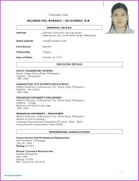 Curriculum Vitae For Fresh Graduate Nurses New Filipino Student Resumes With No Experience Luxury Resume Sample