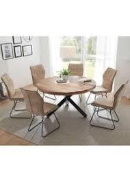 esszimmer sitzgruppe mit rundem tisch 6 stühlen in beige 7