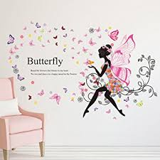 HD Living Room Bedroom Decoration Butterfly Wall Stickers Sitting Adornment Sweet Romance Flower