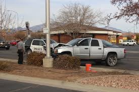 100 How To Drive A Pickup Truck Police R Hits Pickup On Illegal Turn Sending Truck Into Pole