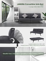 Kebo Futon Sofa Bed Weight Limit by Amazon Com Langria Modern Entertainment Convertible Futon Sofa