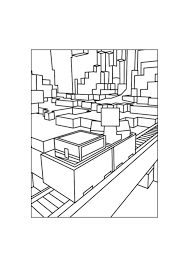 Railroad Minecraft Coloring Pages