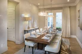 Modern Hanging Dining Chandeliers Room By Linfield Design