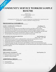Community Service Worker Resume Sample Resumes