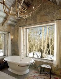 Rustic Industrial Bathroom Mirror by Industrial Rustic Bathroom Ideas Double Bowl Sink Ceramic Flooring