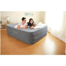 Aerobed With Headboard Full Size by Aerobed Deluxe Comfort Raised Queen Air Mattress With Pump Ebay